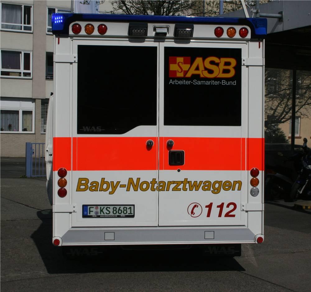 Die Ausstattung Des Baby Notarztwagen